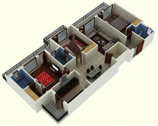 DD Jaganz Classic Residency (3BHK+3T (1,610 sq ft) + Pooja Room Apartment 1610 sq ft)