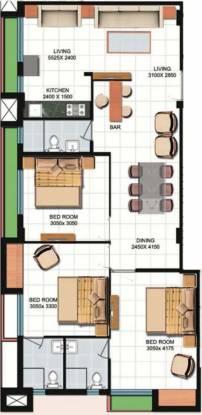 Meharia Oxford Devaa (3BHK+3T (1,352 sq ft) Apartment 1352 sq ft)