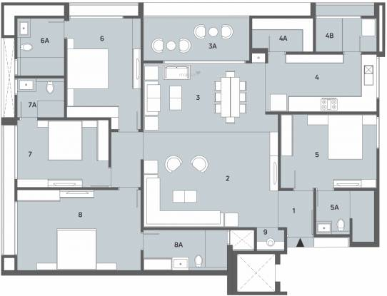 Shivalik Avenue (4BHK+4T (1,904 sq ft) Apartment 1904 sq ft)