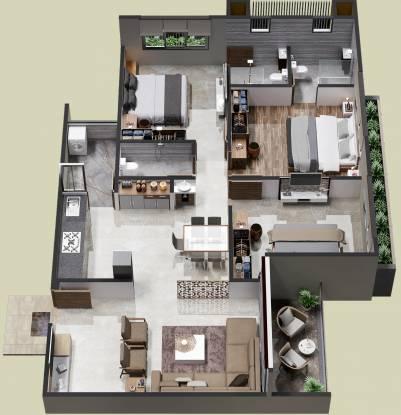 Virasat Palm Glory III (3BHK+3T (1,710 sq ft) Apartment 1710 sq ft)