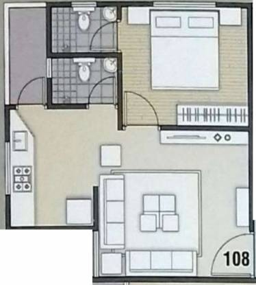 Shlok Sharnam Paradise (1BHK+1T (648 sq ft) Apartment 648 sq ft)