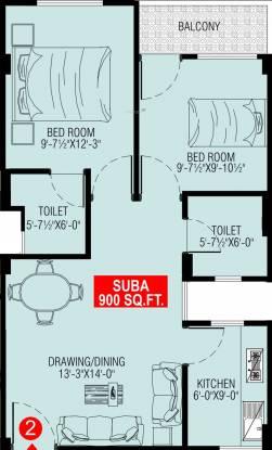 Shri Ratnam The Address (2BHK+2T (900 sq ft) Apartment 900 sq ft)