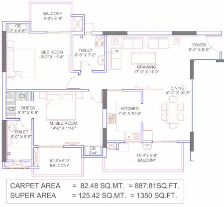 Omega Windsor Greens Phase 1 (2BHK+2T (887.81 sq ft) Apartment 887.81 sq ft)