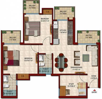 Saviour Park (2BHK+2T (1,285 sq ft) Apartment 1285 sq ft)