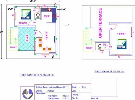 ABI Vetri Velava Nagar (2BHK+3T (912 sq ft) + Pooja Room Villa 912 sq ft)