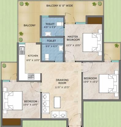 Adore Samriddhi (3BHK+2T (645 sq ft) Apartment 645 sq ft)