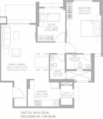 Godrej Green Glades (1BHK+1T (700.08 sq ft) + Study Room Apartment 700.08 sq ft)