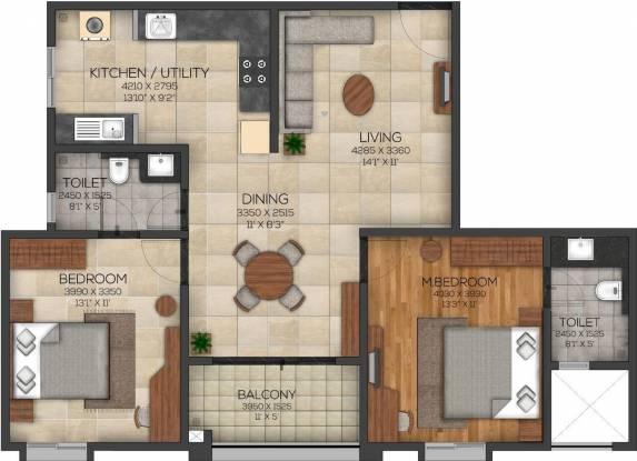 Brigade Serene At Brigade Cornerstone Utopia (2BHK+2T (1,240 sq ft) Apartment 1240 sq ft)