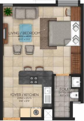 Brigade Eden At Brigade Cornerstone Utopia (1BHK+1T (547 sq ft) Apartment 547 sq ft)