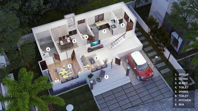 Greentech Rainwoods (3BHK+3T (1,475 sq ft) Villa 1475 sq ft)