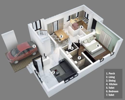 Greentech Wood Stock (3BHK+3T (1,500 sq ft) Villa 1500 sq ft)