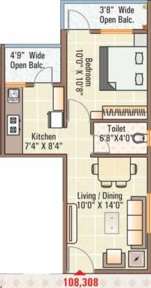 Noble Nakshatra Wing D Phase 1 Part A (1BHK+1T (725 sq ft) Apartment 725 sq ft)