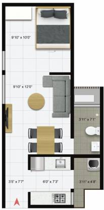 Icon Iconest 3 (1BHK+1T (475 sq ft) Apartment 475 sq ft)