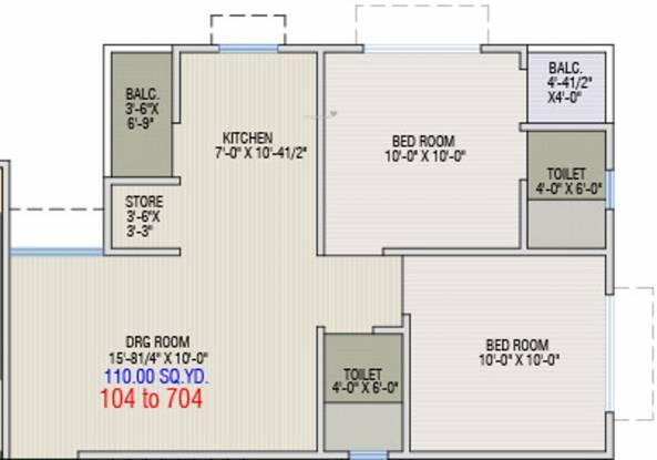 Dharti Exotica (2BHK+2T (990 sq ft) Apartment 990 sq ft)