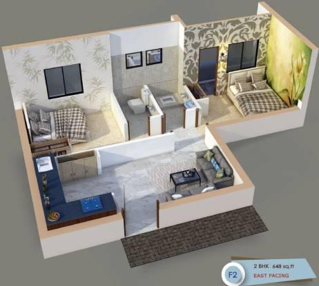 DAC Pranav (2BHK+2T (648 sq ft) Apartment 648 sq ft)
