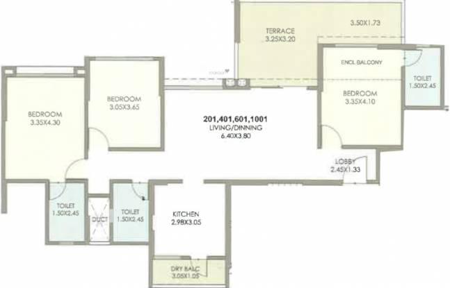Kolte Patil 24K Stargaze (3BHK+3T (981.35 sq ft) Apartment 981.35 sq ft)