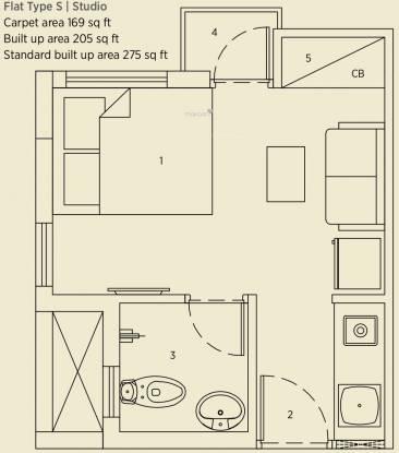 Eden Solaris City Serampore (1BHK+1T (275 sq ft) Apartment 275 sq ft)