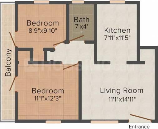 Rahil Floors (2BHK+2T (650 sq ft) Apartment 650 sq ft)