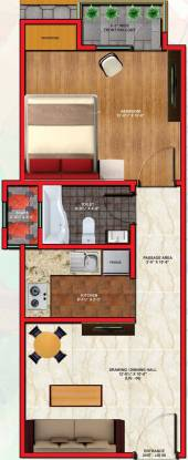 Dream Wonder Homes (1BHK+1T (590 sq ft) Apartment 590 sq ft)