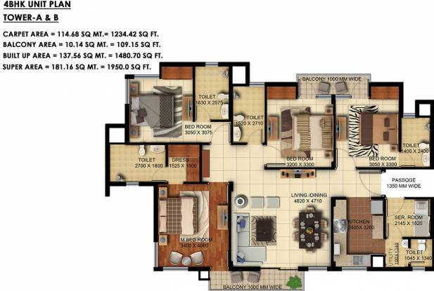 Paarth Humming Phase 2 (4BHK+4T (1,949.99 sq ft) Apartment 1949.99 sq ft)