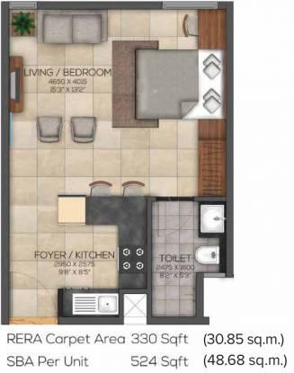 Brigade Eden At Brigade Cornerstone Utopia (1BHK+1T (524 sq ft) Apartment 524 sq ft)