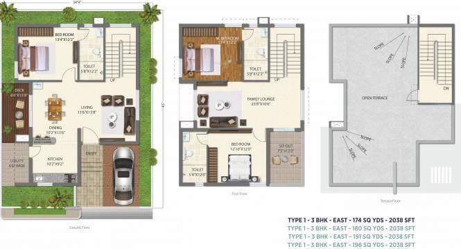 Ramky The Huddle (3BHK+3T (2,038 sq ft) Villa 2038 sq ft)