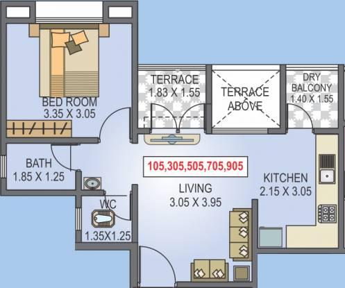Radhika Srinivasa (1BHK+1T (456.07 sq ft) Apartment 456.07 sq ft)