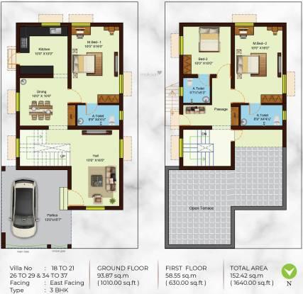 Sree Daksha Praktva Villas (3BHK+3T (1,640 sq ft) Villa 1640 sq ft)