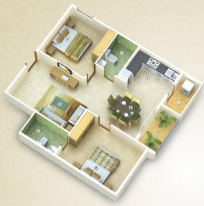 Saranya Soham (2BHK+2T (1,113 sq ft) Apartment 1113 sq ft)