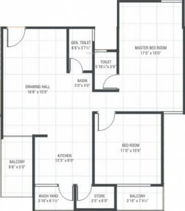 VN Residency (2BHK+2T (1,341 sq ft) Apartment 1341 sq ft)