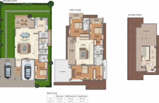 Adarsh Tranqville (4BHK+5T (4,336 sq ft) + Servant Room Villa 4336 sq ft)