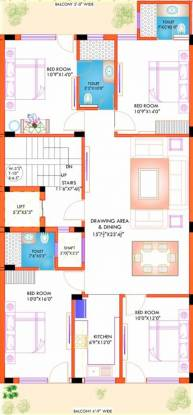 Lord Krishna Royal Floors 3 (4BHK+3T (1,800 sq ft) Apartment 1800 sq ft)