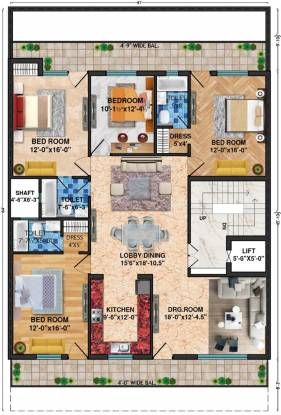 Lord Krishna Royal Floors 2 (4BHK+3T (2,600 sq ft) Apartment 2600 sq ft)
