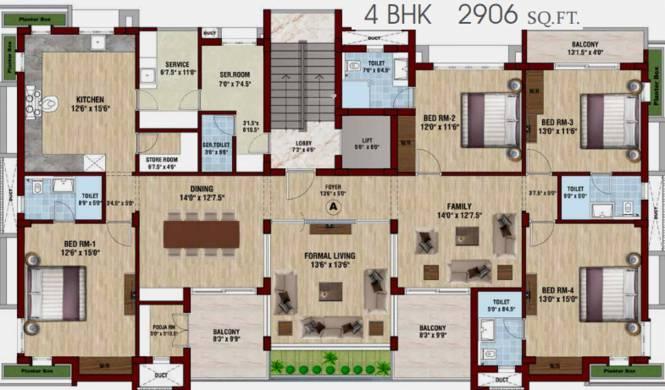 Avanthik Symphony (4BHK+4T (2,905.83 sq ft) Apartment 2905.83 sq ft)