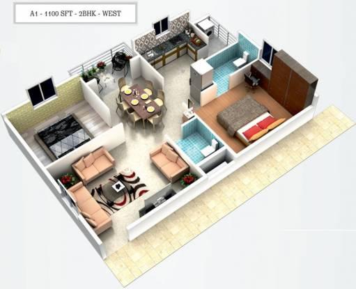 Sanathana Vrushabhadri Mountain (2BHK+2T (1,100 sq ft) Apartment 1100 sq ft)