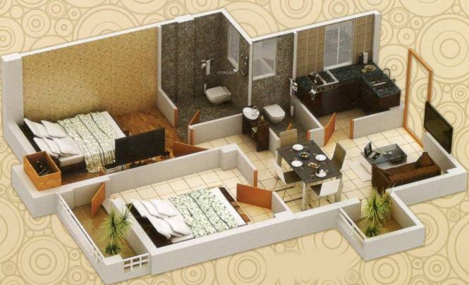 S S And S Aashray Manjula (2BHK+2T (730 sq ft) Apartment 730 sq ft)