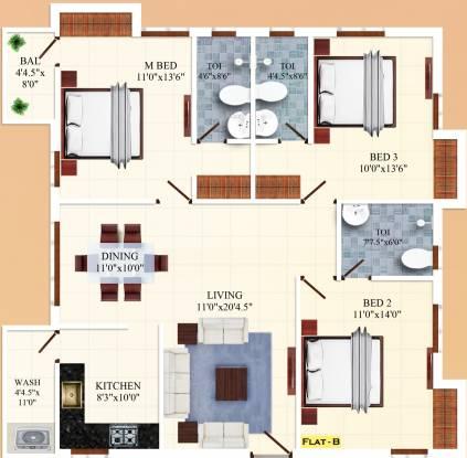 India Rajkand Regency (3BHK+3T (1,500 sq ft) Apartment 1500 sq ft)