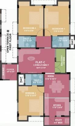 Ramaniyam Mandhagini (3BHK+3T (1,497 sq ft) Apartment 1497 sq ft)