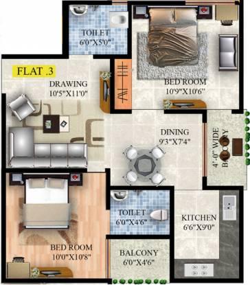Raunak Lifestyle (2BHK+2T (547.99 sq ft) Apartment 547.99 sq ft)