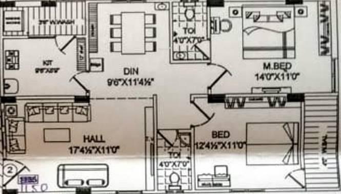 Konkas Pushpanjali (2BHK+2T (1,150 sq ft) Apartment 1150 sq ft)