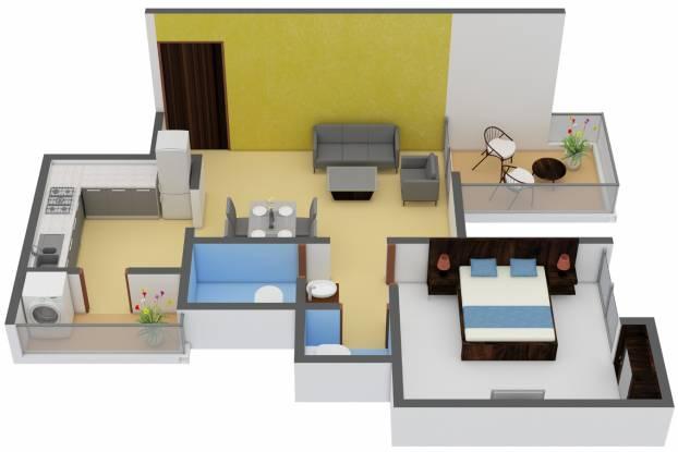 Venkatesh Navita (1BHK+1T (454 sq ft) Apartment 454 sq ft)