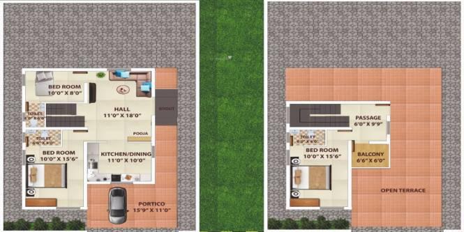 Sathish Sri Sai Avenue (3BHK+3T (1,558 sq ft) Villa 1558 sq ft)