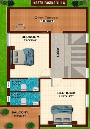 Dream Akshara Villas (3BHK+3T (1,397 sq ft) + Pooja Room Villa 1397 sq ft)