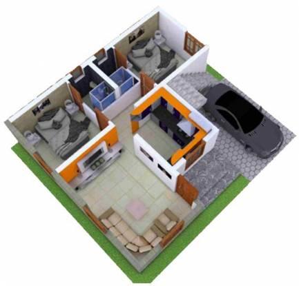 KR Villa Park (2BHK+2T (950 sq ft) Villa 950 sq ft)