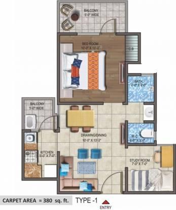 LandCraft Metro Homes (1BHK+2T (610 sq ft) + Study Room Apartment 610 sq ft)