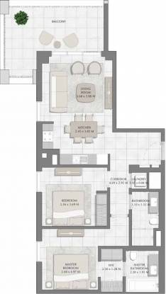 Emaar Creek Harbour Bayshore (2BHK+2T (1,089.42 sq ft) Apartment 1089.42 sq ft)