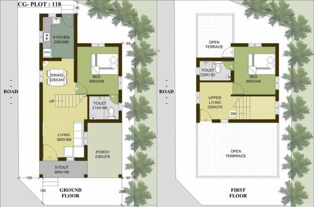 Chathamkulam Temple Park (2BHK+2T (750 sq ft) Villa 750 sq ft)