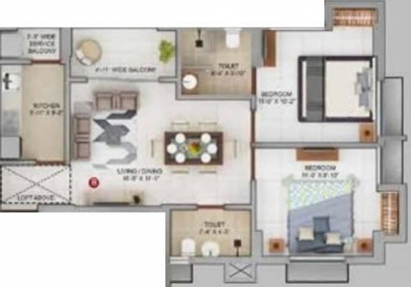 Merlin Urvan (2BHK+2T (723 sq ft) Apartment 723 sq ft)