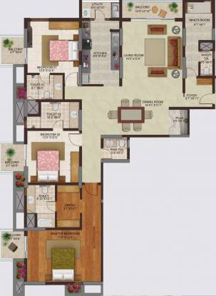 Siddh Shekha Marquis (3BHK+3T (2,910 sq ft) + Servant Room Apartment 2910 sq ft)