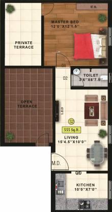 Sekaran Roseville (1BHK+1T (555 sq ft) Apartment 555 sq ft)